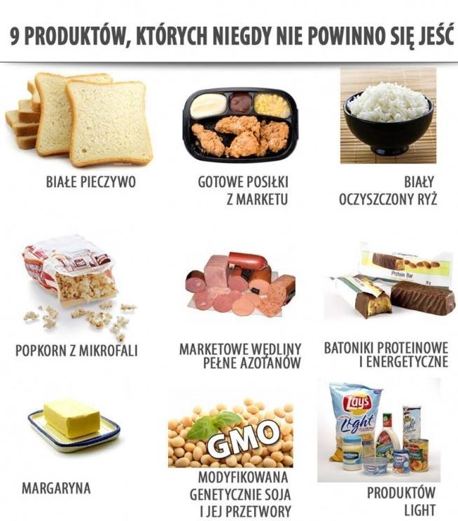 9 produktów których nie powinno się jeść