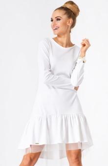 Makadamia M172 sukienka biała Niebanalna sukienka dostępna w kilku modnych ko...