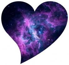 Heart in galaxy.