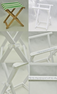 stojak na gazety i książki zrobiony z krzesełka