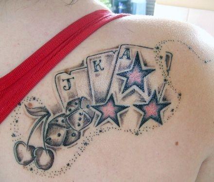 Tatuaz Karty Do Gry Na Tatuaze Zszywka Pl