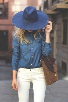 Jeansowa koszula ale i nie ...
