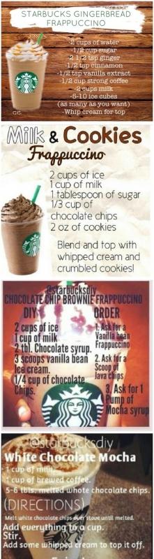 przepisy na kawe Starbucks!