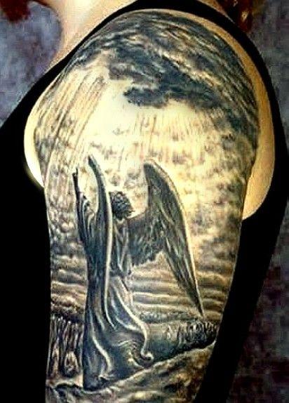 Tatuaże Anioły Na Ciekawe Tatuaże Zszywkapl