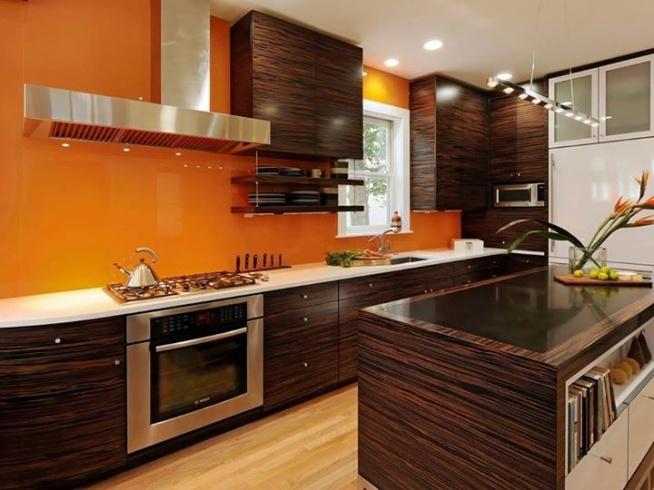 Kuchnia, projekt kuchni, Prosty i elegancki design ;) I te brązowe szafki ;) - Calvado Cudeńko ;)