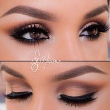 Piękne makijaże dla brązowych oczu -->> sprawdź