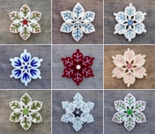 filcowe śnieżynki