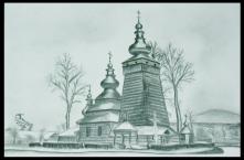 Cerkiew w Kwiatoniu - rysun...