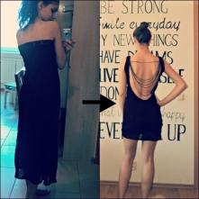 Ręcznie szyta sukienka z koronkowego materiału :)
