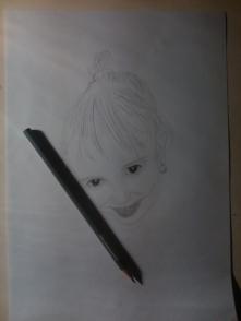 Dziewczynka-Rysunek w trakcie rys