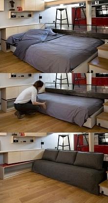 Mieszkanie wg projektu Julie Nabucet (łóżko)