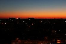 A niebo nad Łodzią rankiem tak wyglądać potrafi :)