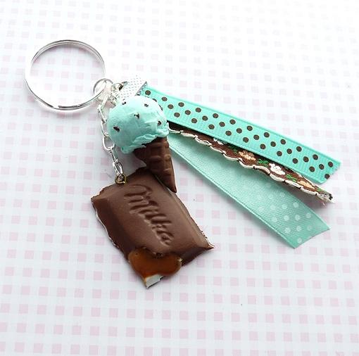 Brelok z lodem miętowym i czekoladą z nadzieniem toffi:)
