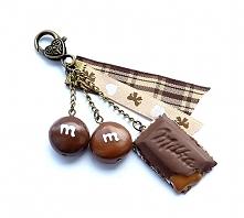Brelok czekolada z nadzieni...