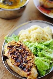 Filet z kurczaka w miodowo-pomarańczowej glazurze Grillowany filet z kurczaka...