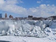 zamarznięty wodospad Niagara