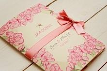 Oryginalne zaproszenia ślubne w kwiaty w stylu retro z serii Retro flower by Artirea. Zamówienia na naszym fb lub za pośrednictwem bloga artirea.blogspot.com :)