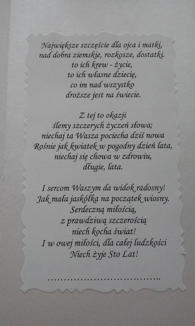 gratulacje z okazji narodzin c u00f3reczki