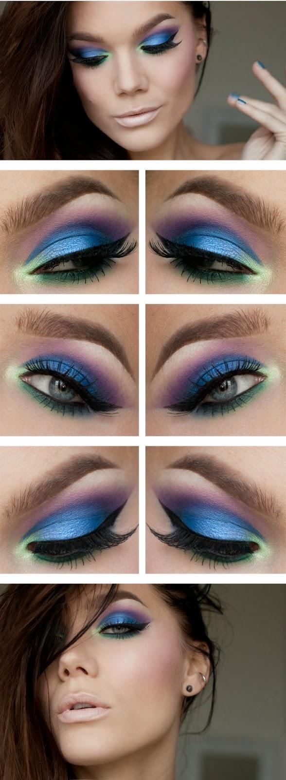 Макияж для голубых глаз макияж для голубых глаз пошагово вечерний