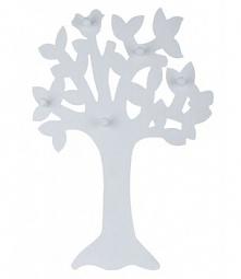 wieszak biały drzewko