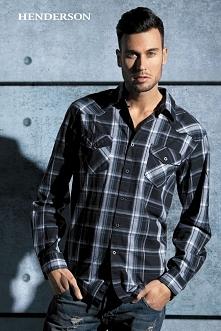 Męski styl...  Koszula Seth 30806 -59X - Henderson w olive.pl