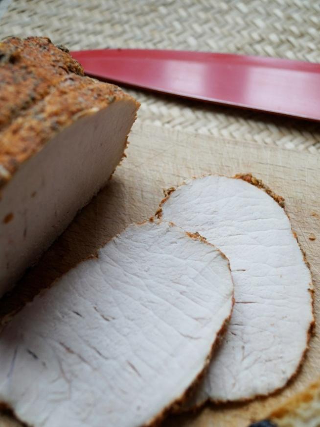 Schab pieczony na ostro - domowa wędlina