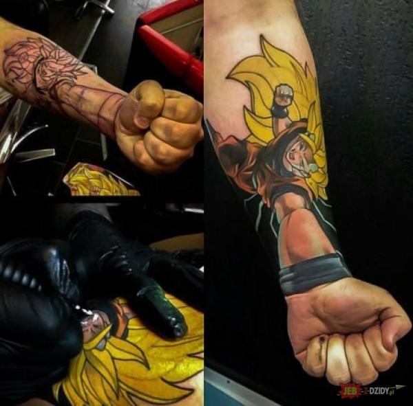 Songo Dragon Ball Na Tattoo Zszywkapl