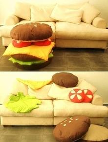 Poduszki hamburgery