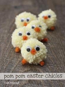 Pomponowe kurczaczki <3