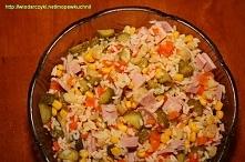 Makaron ryżowy+kukurydza+og...