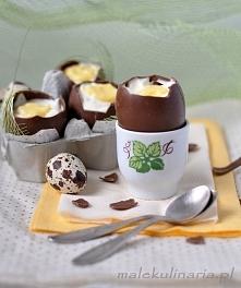 Czekoladowe jajka z serem mascarpone i lemon curd