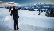 """Już PO """"Moim Pięknym Niebieskim Zimowym Ślubie"""" Było jeszcze piękniej niż myślałam... Polecam ślub zimą!  A to jedno z wielu zdjęć z pleneru 2tyg później ;)"""