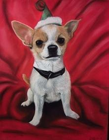 Chihuahua Ciuciu, pastele suche na A4