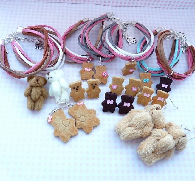 Miniature Teddy Bear Collection to kolekcja słodkiej biżuterii z miniaturowymi misiami pluszowymi oraz z masy termoutwardzalnej FIMO:)