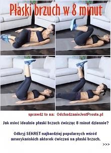 Płaski brzuch w 8 minut (zestaw prostych ćwiczeń na brzuch, które po USA tera...