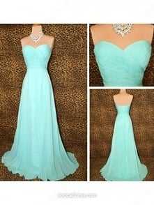 Chiffon A-line Sweetheart Sweep Train Ruffles Prom dresses