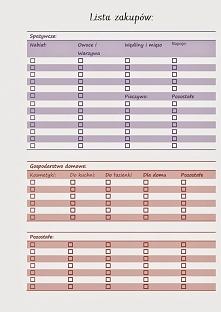 darmowy planer - lista zakupów