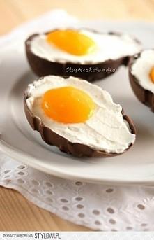 Składniki (na cztery miseczki):  200 g dowolnej czekolady Połowę czekolady stopić w kąpieli wodnej lub mikrofalówce, wymieszać i za pomocą pędzelka (używam silikonowego) nałożyć...
