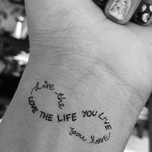 #forever love the life you live