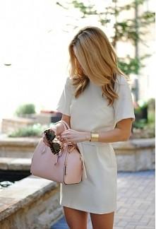 sukienka beżowa :)