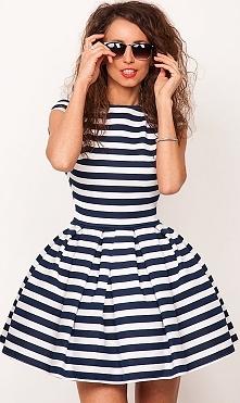 sukienka w paski  sukienkow...