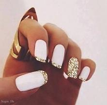 Biel + złoto to połączenie jest idealne, te kolory się kochają ♥