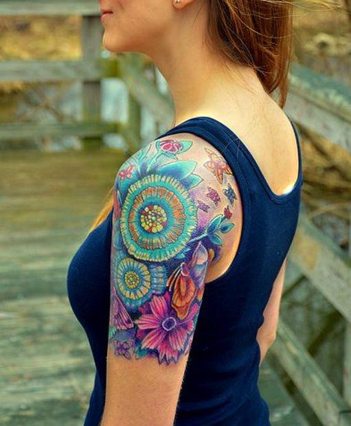 Kolorowe Kwiaty Na Tatuaże Zszywkapl
