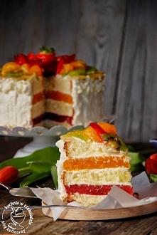 Tort owocowy z limonkowym kremem mascarpone  Przepis po kliknięciu w zdjęcie!