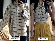 Elegancka bluzka ze starej koszuli?