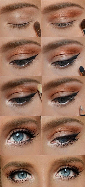 Biała kredka ♥  Piękny makijaż na co dzień...Super podkreślone powiększone oczy!!!