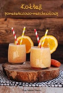 Koktajl pomarańczowo-marchewkowy Przepis po kliknięciu w zdjęcie! :)