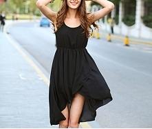 czarne sukienki szyfonowe