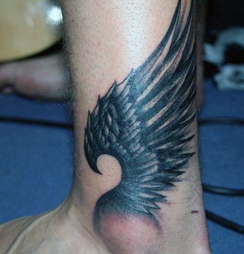 Tatuaże Na Kostce Skrzydło Na Tatuaże Zszywkapl
