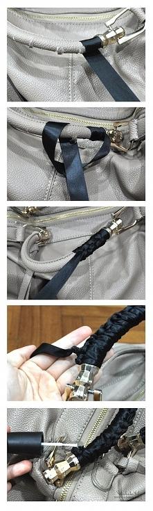 jak naprawić ozdobić zdarta rączkę w torebce